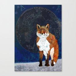 Lunar Kitsune Canvas Print