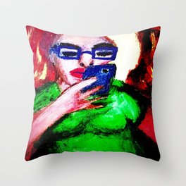 While The Sky Is Falling. Throw Pillow