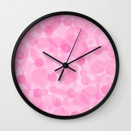 Pink Bubbles 1 Wall Clock