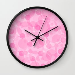 Pink Bubbles 1 Wall Clock