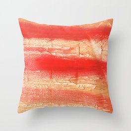 Burnt sienna abstract watercolor Throw Pillow