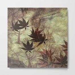 Falling Leaves Metal Print