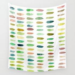 Verdant Brush Lines Wall Tapestry