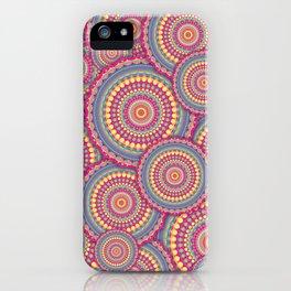Pink Mandala Hippie Pattern iPhone Case