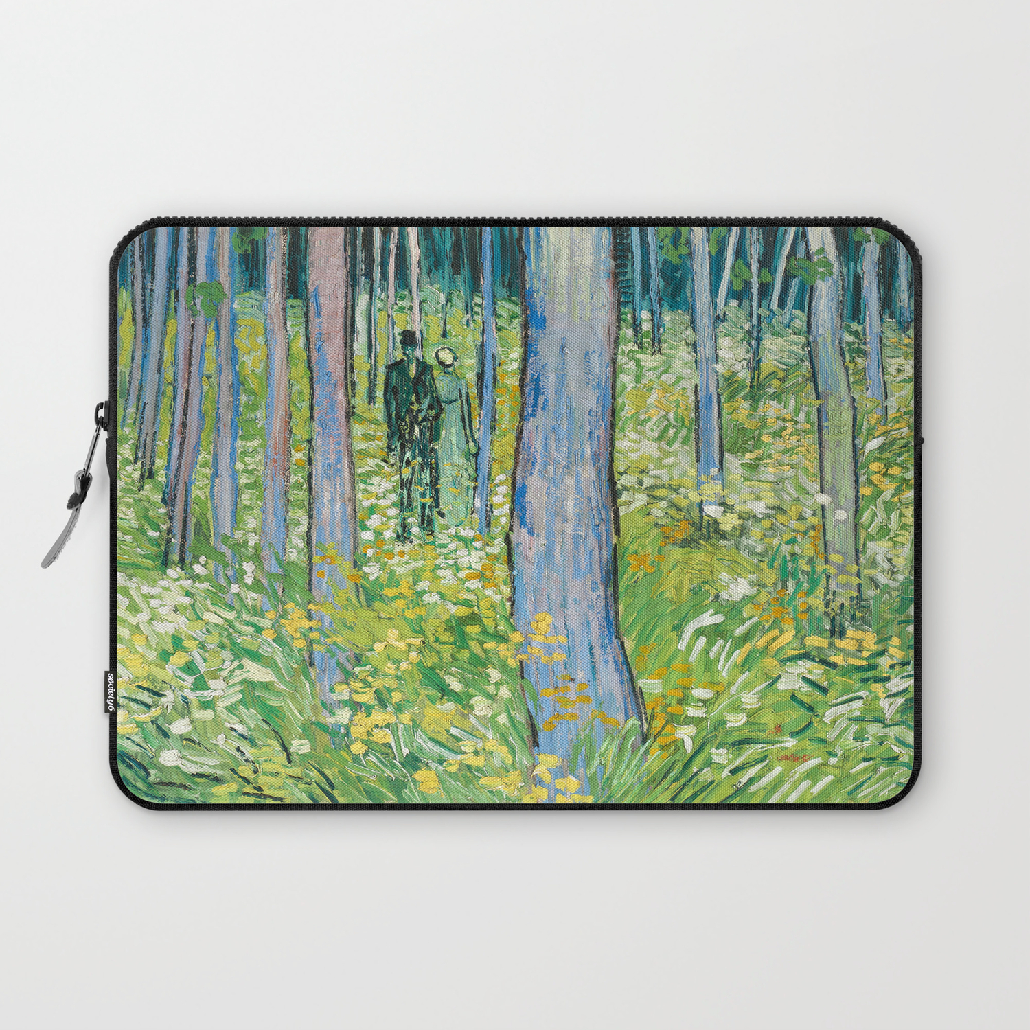 Trees And Undergrowth By Vincent Van Gogh Laptop Shoulder Bag