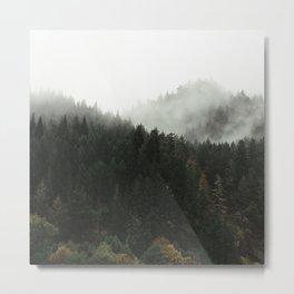 Foggy Mountains 1 Metal Print