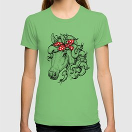 Horse in Red Bandana T-shirt