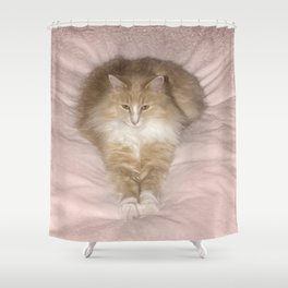 Feather Duster Shower Curtain
