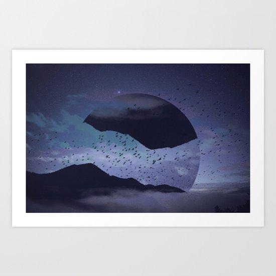 Am I sleepwalking? Art Print