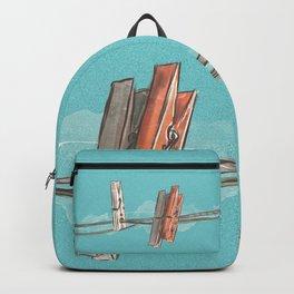 Boho Clothespin Backpack
