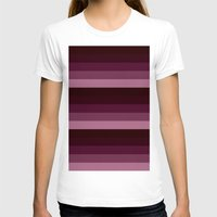 burgundy T-shirts featuring burgundy stripes by Simply Chic