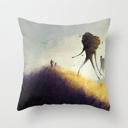 The Earth Giants Throw Pillow