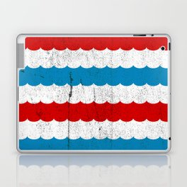 The Sailor - Vintage Nautical Striped Waves RWB Laptop & iPad Skin