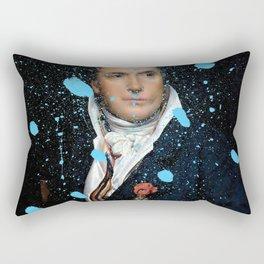 Brutalized Portrait of a Gentleman Rectangular Pillow