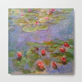 "Claude Monet ""Red Water Lilies"", 1919 Metal Print"