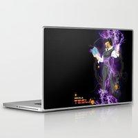 tesla Laptop & iPad Skins featuring DBZ Tesla by Hushy