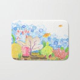 coral reef Bath Mat
