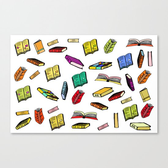 Books all over Canvas Print