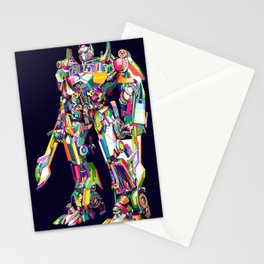 Transformer in pop art Stationery Cards