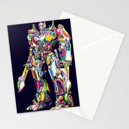 Transformer in pop art Stationery Cards