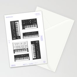 Collection : Synthetizers Stationery Cards