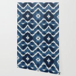 Shibori, tie dye, chevron print Wallpaper