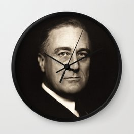 Franklin D. Roosevelt, about 1932 Wall Clock
