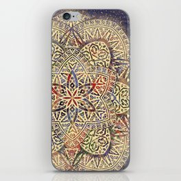 Gold Morocco Lace Mandala iPhone Skin