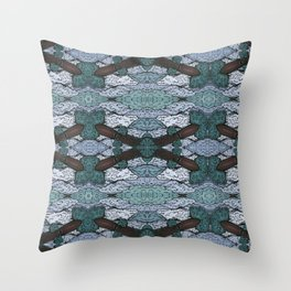 ATOMIC SQUID ZEPPELIN Throw Pillow
