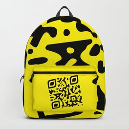 QR Clothes Yellow Backpack