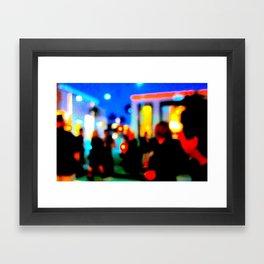 LA at Night Framed Art Print