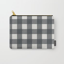 Gingham Cloth / Charcoal Checks Carry-All Pouch