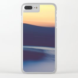 Mountain Sunrise Over Lake - Long Exposure Abstract Clear iPhone Case
