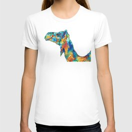 Colorful Camel Art By Sharon Cummings T-shirt