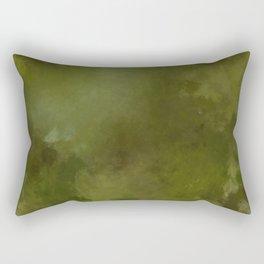 Green brown batic look Rectangular Pillow