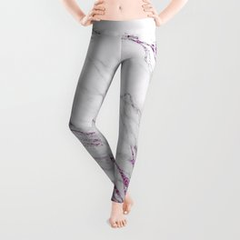 Gray and Ultra Violet Marble Agate Leggings
