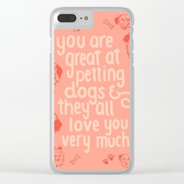 The Best Compliment (peach) Clear iPhone Case