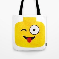 Winking Smile - Emoji Minifigure Painting Tote Bag