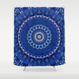 Mandala star dust Shower Curtain