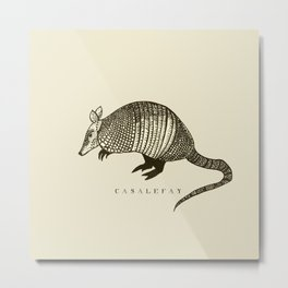 Armadillo power Metal Print