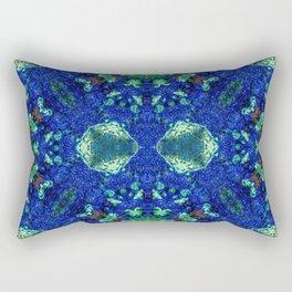 Malachite and Azurite with a geometric kaleidoscopic design Rectangular Pillow