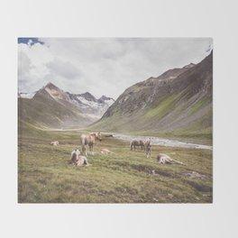 Tyrolean Haflinger horses I Throw Blanket