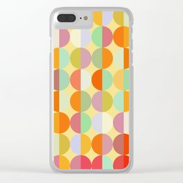 Colorful Circles I Clear iPhone Case