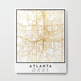 ATLANTA GEORGIA CITY STREET MAP ART Metal Print