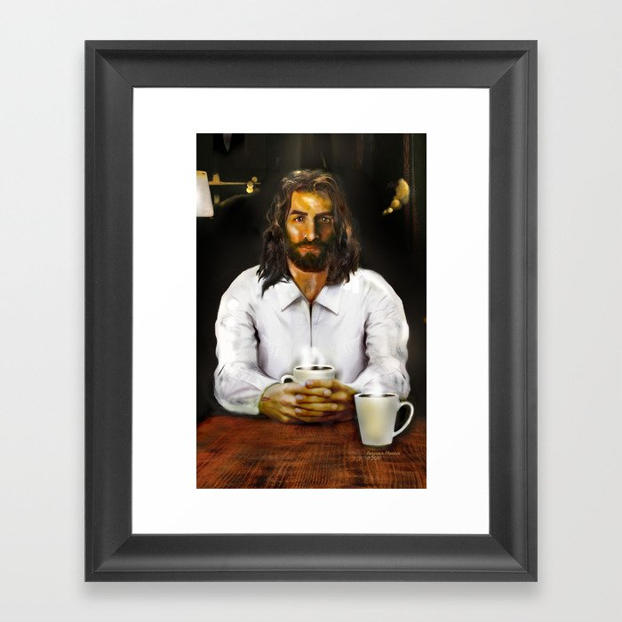 Coffee With Jesus Framed Art Print by benjaminphenicie | Society6