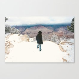 They won't see us waving from such great heights Canvas Print