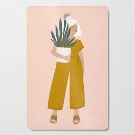 plant shopping Cutting Board