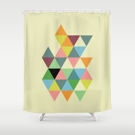 Abstract #585 Shower Curtain