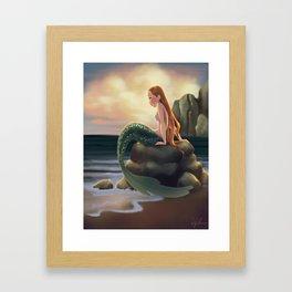 Beached Mermaid Framed Art Print