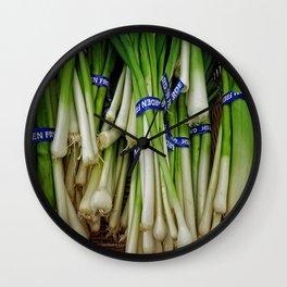 Scallions Wall Clock